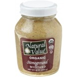 [Natural Value] Condiments Mustard, Stoneground In A Jar  At least 95% Organic