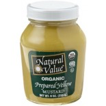 [Natural Value] Condiments Mustard, Yellow In A Jar  At least 95% Organic