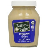 [Natural Value] Condiments Mustard, Dijon In A Jar  At least 95% Organic