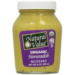 [Natural Value] Condiments Mustard, Horseradish In A Jar  At least 95% Organic