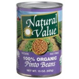 [Natural Value] Beans Pinto  At least 95% Organic