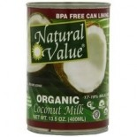 [Natural Value] Canned Goods Coconut Milk  At least 95% Organic