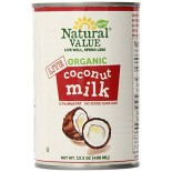 [Natural Value] Canned Goods Coconut Milk, Lite  At least 95% Organic