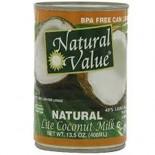 [Natural Value] Canned Goods Coconut Milk, Lite