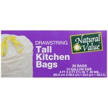 [Natural Value] Recycled Plastic Products Kitchen Bags w/Drawstrings
