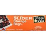 [Natural Value] Plastic Bags & Wrap (No PVC`s or Plasticizers) Storage Bags, Slider, Qt