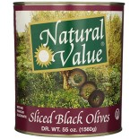 [Natural Value] Olives Black Sliced, No Ferrous Gluconate