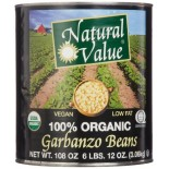 [Natural Value] Beans Garbanzo  100% Organic