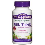 [Oregon`S Wild Harvest] Single Encapsulated Herbs, Non-GMO Milk Thistle w/80% Silymarin  At least 70% Organic