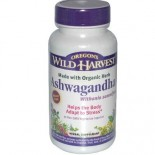 [Oregon`S Wild Harvest] Single Encapsulated Herbs, Non-GMO Ashwagandha  At least 70% Organic