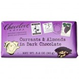 [Chocolove] Chocolate Bars Currants & Almonds in Dark Choc  At least 95% Organic