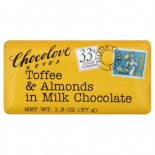 [Chocolove] Mini Chocolate Bars Milk With Almonds & Toffee