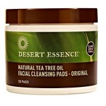 [Desert Essence] Facial Care Nat Cleansing Pads w/Tea Tree Oil