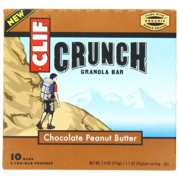[Clif Bars] Crunch Granola Bars Chocolate Peanut Butter  At least 70% Organic