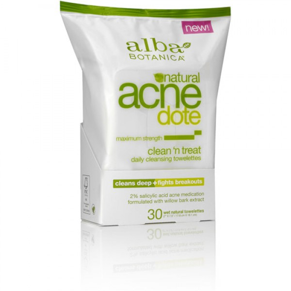 [Alba Botanica] Facial Care Products ACNEdote Clean & Treat Towelette