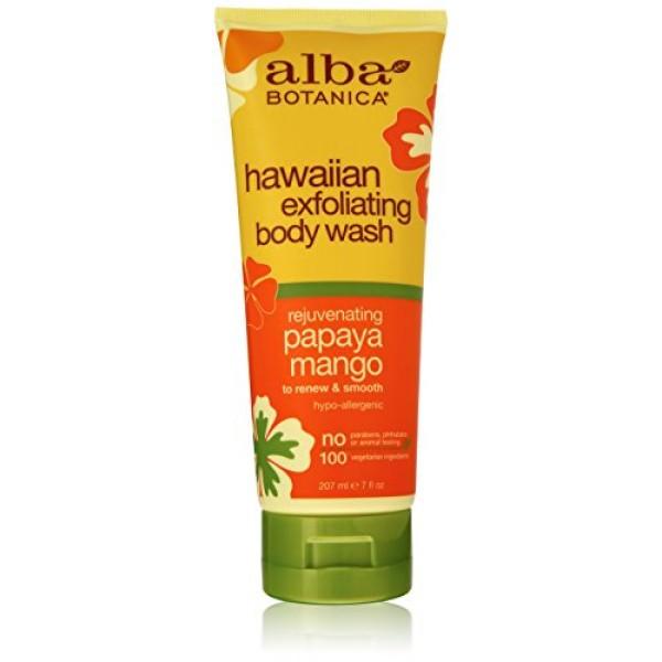 [Alba Botanica] Hawaiian Spa Treatment Papaya Mango Exfol Body Wash
