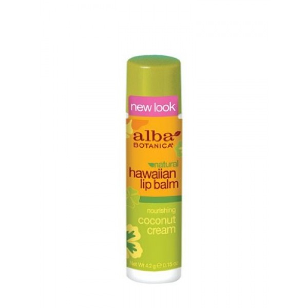 [Alba Botanica] Hawaiian Lip Balms Coconut Cream Lip Balm