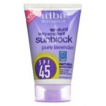 [Alba Botanica] Suncare Products Sunscreen, Lavender, SPF 45
