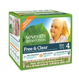 [Seventh Generation] Diapers Stage 4, 22-37 lb, Jumbo Pack