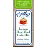 [Martha`S]  Cake Mix, Lemon Poppy Seed