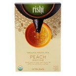 [Rishi Tea] Organi White Tea Peach Nectar, FT  At least 95% Organic