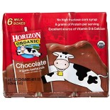 [Horizon] Shelf Stable, Aseptic Boxed Milk 1% Choc, Single Srv, Multi Pk  At least 95% Organic
