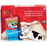 [Horizon] Shelf Stable, Aseptic Boxed Milk 1% Plain, Single Serve, Multi Pk  At least 95% Organic