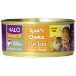[Halo] Spots Choice Grain Free Canned Cat Food Chicken, Shredded