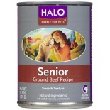 [Halo] Canned Dog Food Senior, Ground Beef