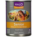 [Halo] Canned Dog Food Senior, Ground Chicken