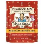 [Newman`S Own Organics] Dog Treats Snack Sticks, Chicken Sweet Potato  At least 70% Organic