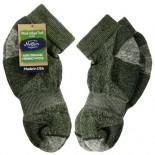 [Maggie`S Organics] Organic Wool Socks Ankle, Green 10-13