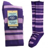 [Maggie`S Organics] Organic Knee Hi Socks Cushion, Purple 9-11