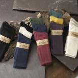 [Maggie`S Organics] Organic Cotton Crew Socks Raspberry, Navy, Forest 9-11
