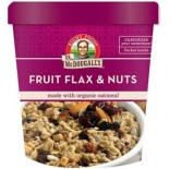 [Dr. Mcdougall`S] Breakfast Grain Cups Fruit Flax & Nuts  At least 70% Organic