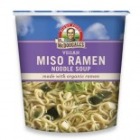 [Dr. Mcdougall`S] Big Cup Soups Miso, Garlic Ginger w/ Noodles  At least 70% Organic