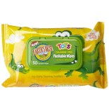 [Earth`S Best] Tender Care Tots Flushable Wipes