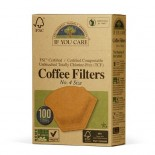 [If You Care] Unbleached Coffee Filters Cone #4