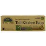 [If You Care] Plastic Bags Kitchen, Tall, Bio Plastic, 13gal