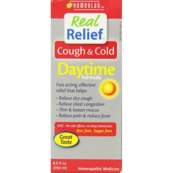 [Real Relief]  Cough/Cold Syrup, Daytime Formula