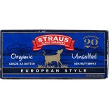 [Straus Family Creamery] Butter European Style, Sweet  100% Organic