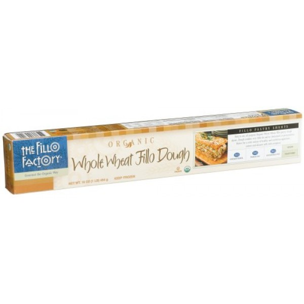 [The Fillo Factory] Pastry Dough 13x18 Sheets, Whole Wheat  At least 95% Organic