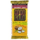 [Coco Polo] 70% Cocoa, Chocolate Bar Dark Choc,Tstd Coconut Chia