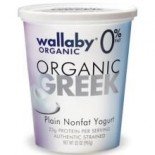 [Wallaby Organic] Greek Non Fat Yogurt Plain  At least 95% Organic