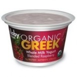 [Wallaby Organic] Whole Milk Greek Yogurt Blended Raspberry  At least 95% Organic