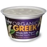 [Wallaby Organic] Whole Milk Greek Yogurt Blended Vanilla Bean  At least 95% Organic
