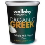 [Wallaby Organic] Whole Milk Greek Yogurt Blended Plain  At least 95% Organic