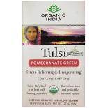[Organic India] Tulsi Teas - Bags Pomegranate Green  At least 95% Organic
