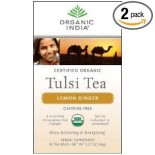 [Organic India] Tulsi Teas - Bags Lemon Ginger  At least 95% Organic