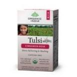 [Organic India] Tulsi Teas - Bags Cinnamon Rose  At least 95% Organic